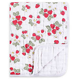 Hudson Baby® Tranquility Strawberries Muslin Blanket in Red