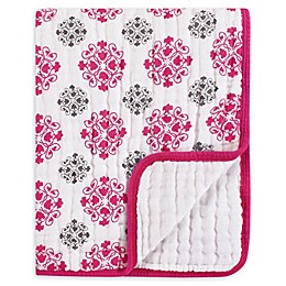 Yoga Sprout Tranquility Medallion Muslin Blanket in Pink