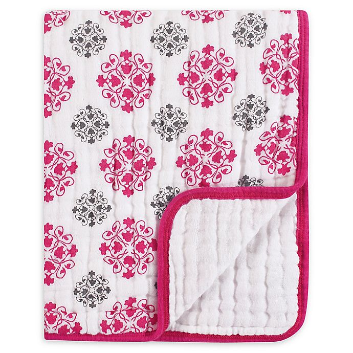 Alternate image 1 for Yoga Sprout Tranquility Medallion Muslin Blanket in Pink