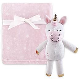 Hudson Baby® 2-Piece Unicorn Plush Blanket and Toy Set in White