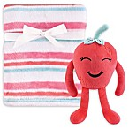 Hudson Baby® 2-Piece Strawberry Plush Blanket and Toy Set in Red