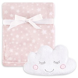 Hudson Baby® 2-Piece Cloud Plush Blanket and Toy Set in Pink