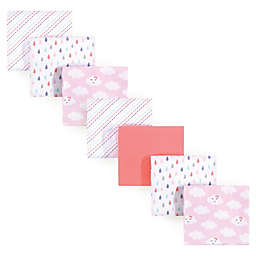 Luvable Friends® 7-Pack Clouds Flannel Receiving Blankets in Pink