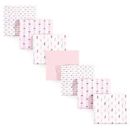 Luvable Friends® 7-Pack Feathers Flannel Receiving Blankets in Pink