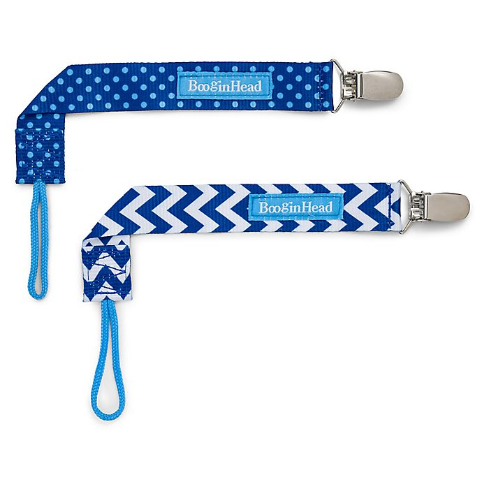 Alternate image 1 for BooginHead® PaciGrip 2-Pack Pacifier Straps in Blue