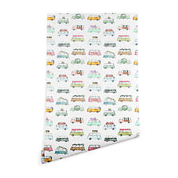 Deny Designs Dash and Ash Buses and Plants Peel and Stick Wallpaper