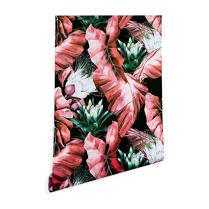 Alternate image 1 for Deny Designs Marta Barragan Camarasa Dark Tropical 2-Foot x 8-Foot Peel and Stick Wallpaper