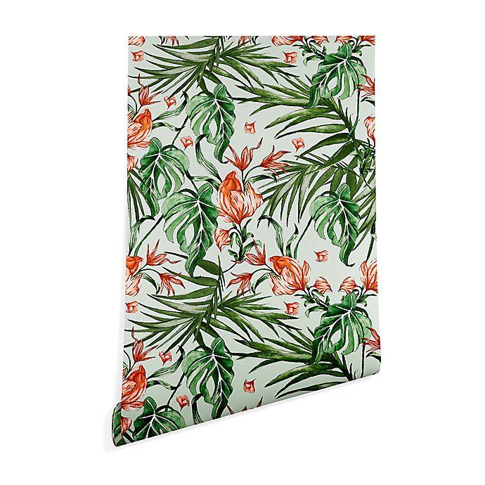 Alternate image 1 for Deny Designs Marta Barragan Camarasa Exotic Flower 2-Foot x 4-Foot Wallpaper in Green