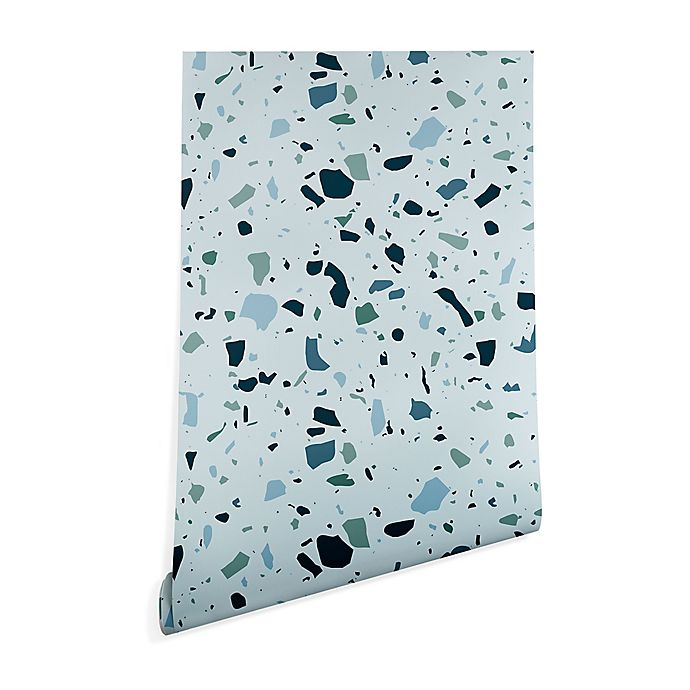 Alternate image 1 for Deny Designs Mareike Boehmer Scandinavian Terrazzo 2-Foot x 8-Foot Peel and Stick Wallpaper in Blue