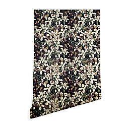 Deny Designs Cayenablanca Herbolarium 2-Foot x 4-Foot Peel & Stick Wallpaper in Black