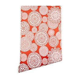 Deny Designs Heather Dutton Delightful Doilie Saffron Peel and Stick Wallpaper