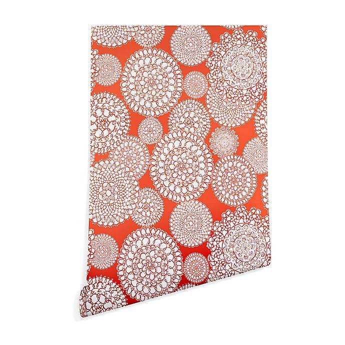 Alternate image 1 for Deny Designs Heather Dutton Delightful Doilie Saffron Peel and Stick Wallpaper