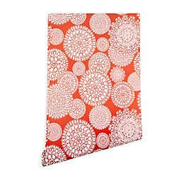 Deny Designs Heather Dutton Delightful Doilie Saffron Peel and Stick Wallpaper