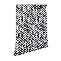 Deny Designs Little Arrow Design Co. Herringbone Peel and Stick Wallpaper