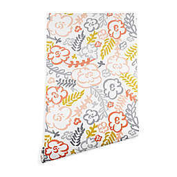 Deny Designs Heather Dutton Floral Brush Peel and Stick Wallpaper in White