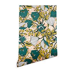 Deny Designs Marta Barragan Camarasa Tropical Bloom 2-Foot x 10-Foot Peel and Stick Wallpaper