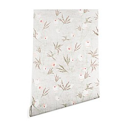 Deny Designs Holli Zollinger French Anemone Light Peel and Stick Wallpaper in Grey