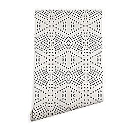 Deny Designs Holli Zollinger Boho Tile Peel and Stick Wallpaper in Grey