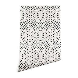 Deny Designs Holli Zollinger Boho Tile 2-Foot x 10-Foot Peel & Stick Wallpaper in Black