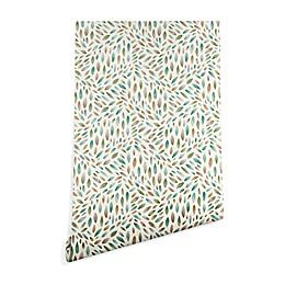 Deny Designs Pimlada Phuapradit Mini Leaves 2 Peel and Stick Wallpaper
