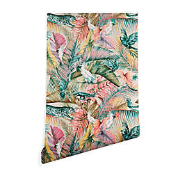Deny Designs Sunset Jungle 2-Foot x 8-Foot Peel and Stick Wallpaper