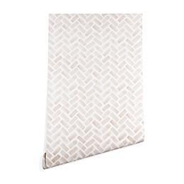 Deny Designs Herringbone Peel and Stick Wallpaper in Pink