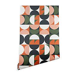 Deny Designs Old Art Studio Mid-Century Geometric 2-Foot x 10-Foot Peel and Stick Wallpaper