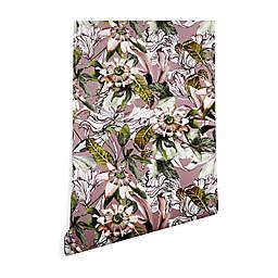 Deny Designs Bloom Botanical 2-Foot x 8-Foot Peel & Stick Wallpaper in Purple