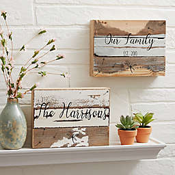 Family Story Reclaimed Wood Wall Sign