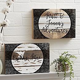 Adventure Awaits Reclaimed Wood Wall Sign