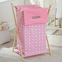 Collapsible Laundry Hamper in Pink