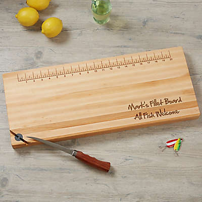 Personalized 10-Inch x 24-Inch Maple Fillet Board