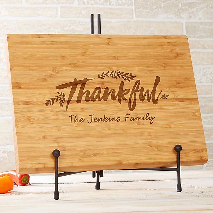 Cozy Home Personalized Bamboo Cutting Board