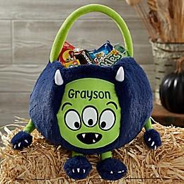 Monster Embroidered Plush Treat Bag
