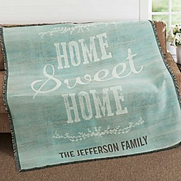 Home Sweet Home Woven Throw Blanket