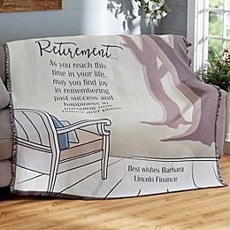 Embrace the Future Retirement Woven Throw Blanket