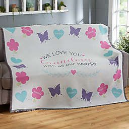 All Our Hearts Woven Throw Blanket