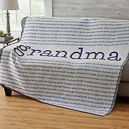 Our Special Lady Woven Throw Blanket
