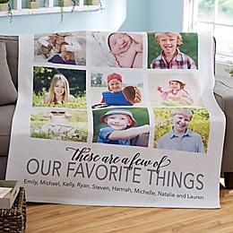 My Favorite Things 50-Inch x 60-Inch Sweatshirt Blanket