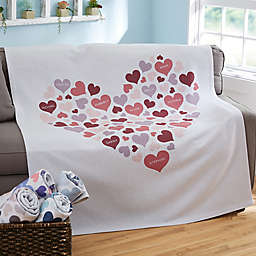 Heart of Hearts 50-Inch x 60-Inch Sweatshirt Blanket