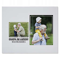 Two Photo Collage for Him 50-Inch x 60-Inch Sweatshirt Blanket