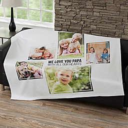 Five Photo Collage 50-Inch x 60-Inch Sweatshirt Blanket