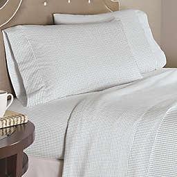 Pointehaven Checkerboard 200-Thread-Count Cotton Sheet Set