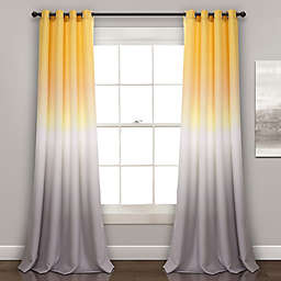 Ombre Fiesta 84-Inch Room Darkening Window Curtain Panels in Yellow (Single)