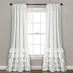 Allison 84-Inch Rod Pocket Window Curtain Panel Pair in White