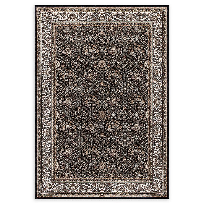 Alternate image 1 for Dynamic Rugs Persia Damask 2'2 x 4'3 Accent Rug in Black