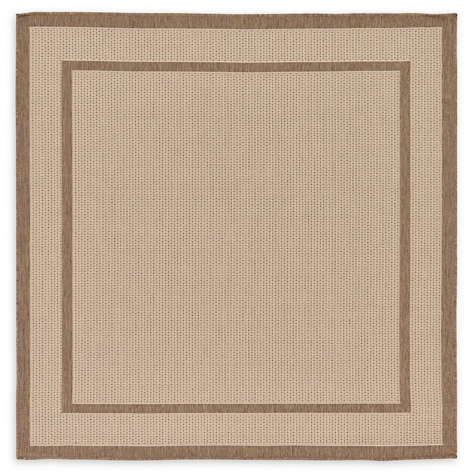 Alternate image 1 for Border 6' x 6' Square Indoor/Outdoor Area Rug in Beige