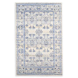 La Jolla Area Rug in Ivory/Light Blue