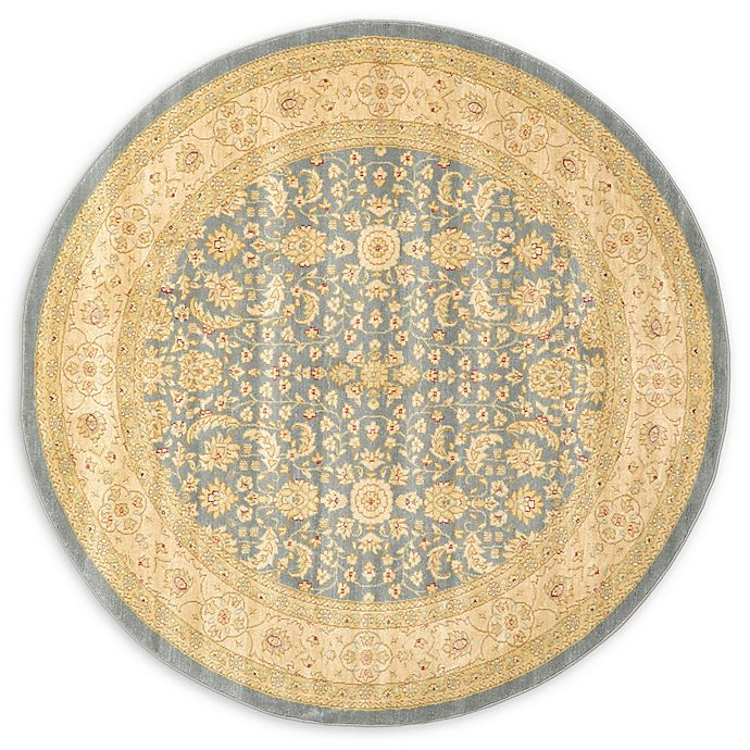 Alternate image 1 for Unique Loom Aurinia Heritage 6' Round Powerloomed Area Rug in Blue
