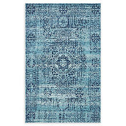 Unique Loom Bouquet Heritage Powerloomed Rug in Turquoise